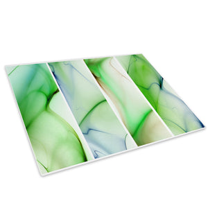 Green Blue Waves Cool Glass Chopping Board Kitchen Worktop Saver Protector - AB130-Abstract Chopping Board-WhatsOnYourWall