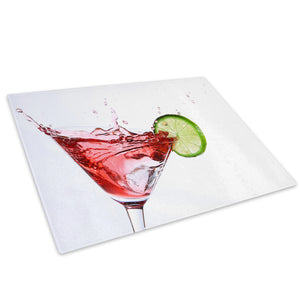 Cocktail Splash Red Glass Chopping Board Kitchen Worktop Saver Protector - AB132-Abstract Chopping Board-WhatsOnYourWall