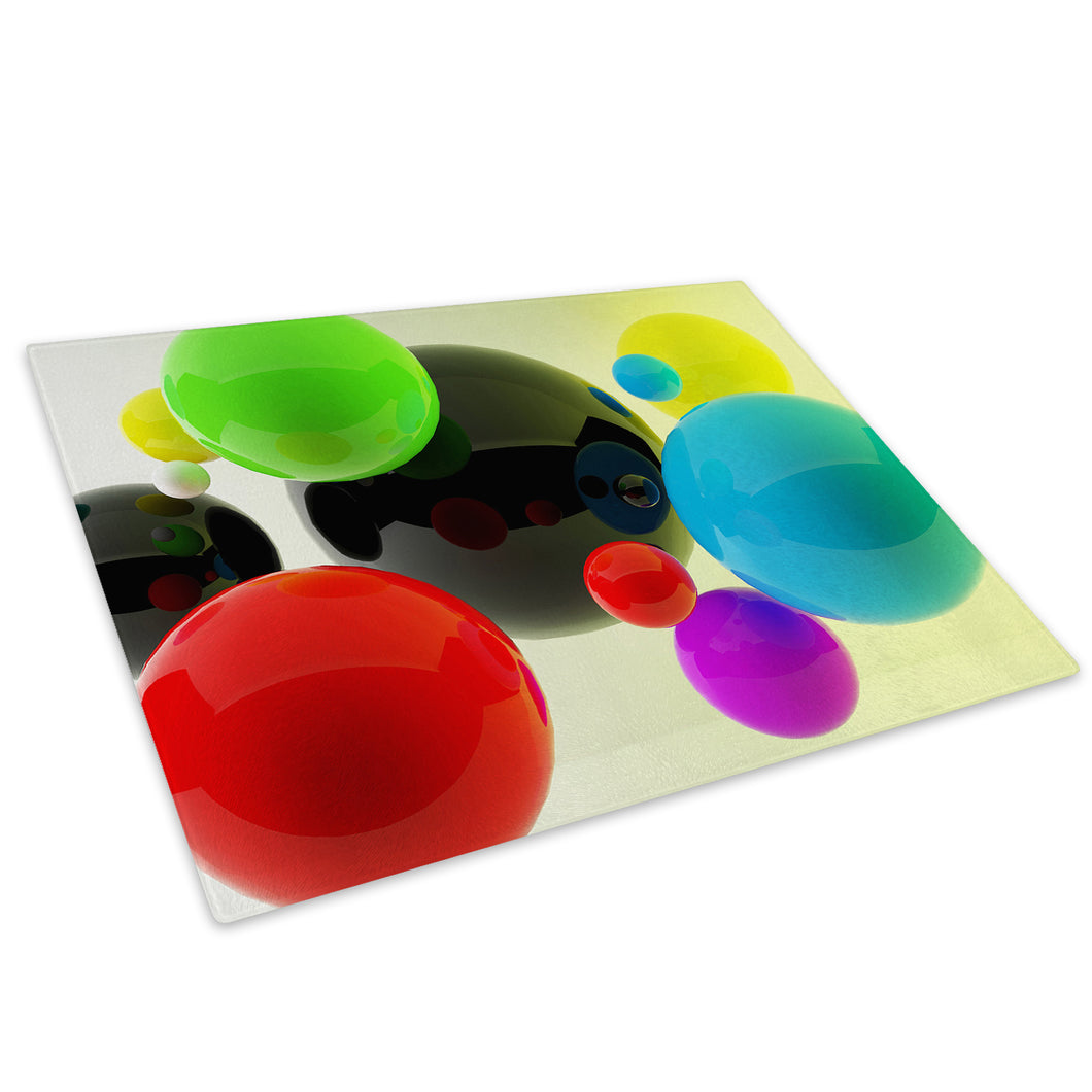 Green Red Blue Cool Glass Chopping Board Kitchen Worktop Saver Protector - AB133-Abstract Chopping Board-WhatsOnYourWall