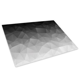 Black White Grey Cool Glass Chopping Board Kitchen Worktop Saver Protector - AB1349-Abstract Chopping Board-WhatsOnYourWall