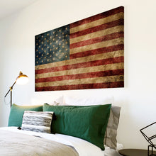 AB138 Framed Canvas Print Colourful Modern Abstract Wall Art - American Flag Retro USA-Canvas Print-WhatsOnYourWall