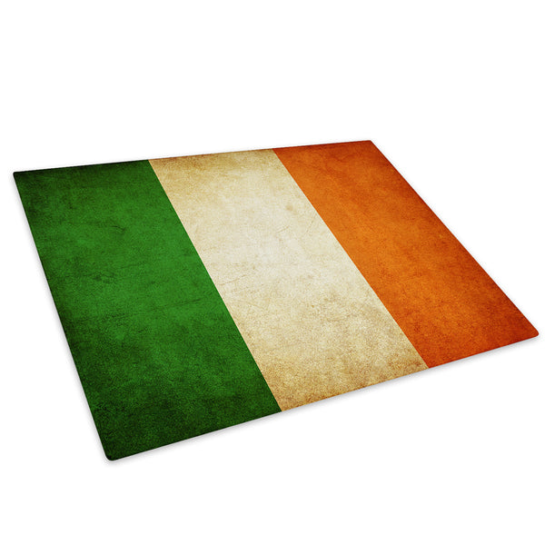Irish Flag Tricolour Glass Chopping Board Kitchen Worktop Saver Protector - AB139-Abstract Chopping Board-WhatsOnYourWall