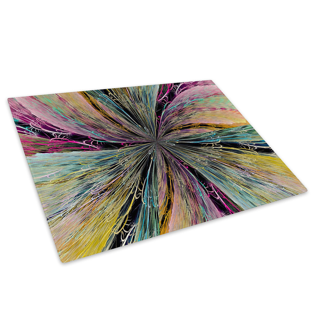 Colourful Cool Funky Glass Chopping Board Kitchen Worktop Saver Protector - AB1407-Abstract Chopping Board-WhatsOnYourWall