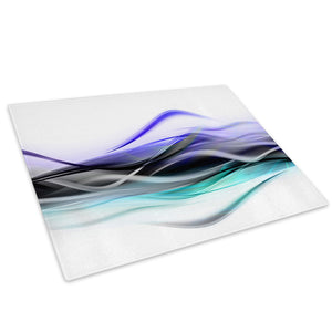 Purple Teal White Glass Chopping Board Kitchen Worktop Saver Protector - AB141-Abstract Chopping Board-WhatsOnYourWall