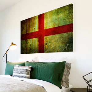 AB143 Framed Canvas Print Colourful Modern Abstract Wall Art - St Georges Cross England-Canvas Print-WhatsOnYourWall