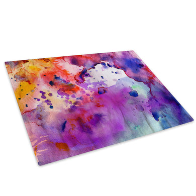 Colourful Funky Cool Glass Chopping Board Kitchen Worktop Saver Protector - AB1458-Abstract Chopping Board-WhatsOnYourWall