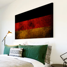 AB146 Framed Canvas Print Colourful Modern Abstract Wall Art - German Flag Retro-Canvas Print-WhatsOnYourWall