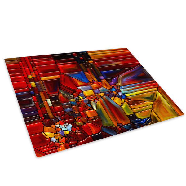 Colourful Retro Cool Glass Chopping Board Kitchen Worktop Saver Protector - AB1477-Abstract Chopping Board-WhatsOnYourWall