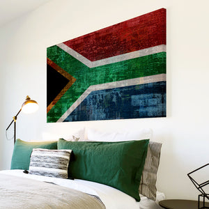 AB147 Framed Canvas Print Colourful Modern Abstract Wall Art - South African Flag Retro-Canvas Print-WhatsOnYourWall