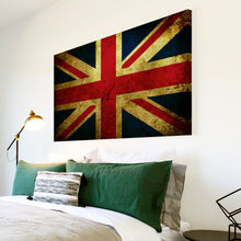 AB148 Framed Canvas Print Colourful Modern Abstract Wall Art - Union Jack Uk Flag Retro-Canvas Print-WhatsOnYourWall