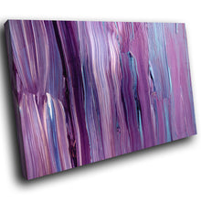 AB1501A Framed Canvas Print Colourful Modern Abstract Wall Art -  purple paint drip - WhatsOnYourWall