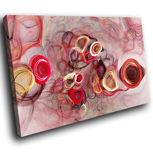 AB1504A Framed Canvas Print Colourful Modern Abstract Wall Art - Red smoky-Canvas Print-WhatsOnYourWall