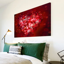AB1509A Framed Canvas Print Colourful Modern Abstract Wall Art - red dot blur effect-Canvas Print-WhatsOnYourWall