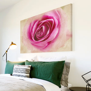 AB1511A Framed Canvas Print Colourful Modern Abstract Wall Art - pink rose effect-Canvas Print-WhatsOnYourWall
