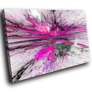 AB1512A Framed Canvas Print Colourful Modern Abstract Wall Art - purple cloudy sky-Canvas Print-WhatsOnYourWall