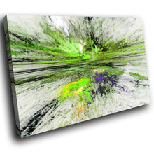 AB1513A Framed Canvas Print Colourful Modern Abstract Wall Art -  green paint splatter - WhatsOnYourWall