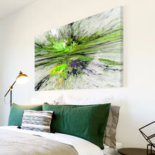 AB1513A Framed Canvas Print Colourful Modern Abstract Wall Art - green paint splatter-Canvas Print-WhatsOnYourWall