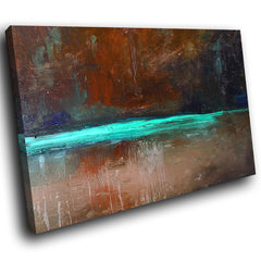 AB1515A Framed Canvas Print Colourful Modern Abstract Wall Art - brown paint effect-Canvas Print-WhatsOnYourWall