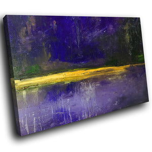 AB1516A Framed Canvas Print Colourful Modern Abstract Wall Art - purple paint effect-Canvas Print-WhatsOnYourWall