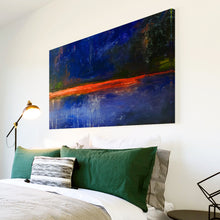 AB1517A Framed Canvas Print Colourful Modern Abstract Wall Art - blue paint-Canvas Print-WhatsOnYourWall