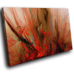AB1519A Framed Canvas Print Colourful Modern Abstract Wall Art - red paint splat effect-Canvas Print-WhatsOnYourWall
