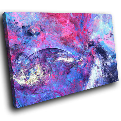 AB1522A Framed Canvas Print Colourful Modern Abstract Wall Art - purple grunge splatter-Canvas Print-WhatsOnYourWall