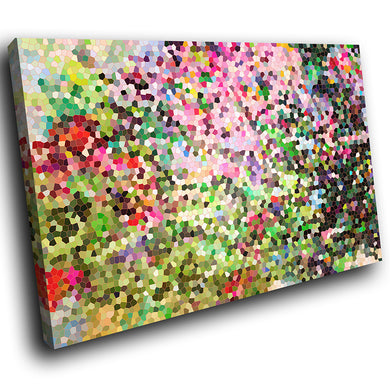 AB1523A Framed Canvas Print Colourful Modern Abstract Wall Art - green pixel-Canvas Print-WhatsOnYourWall