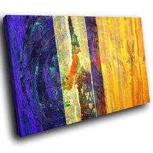 AB1541A Framed Canvas Print Colourful Modern Abstract Wall Art - yellow blue white paint-Canvas Print-WhatsOnYourWall
