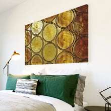 AB1542A Framed Canvas Print Colourful Modern Abstract Wall Art - yellow brown circle-Canvas Print-WhatsOnYourWall