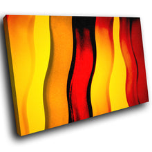 AB1546A Framed Canvas Print Colourful Modern Abstract Wall Art - red yellow wave-Canvas Print-WhatsOnYourWall