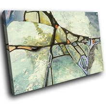 AB1556A Framed Canvas Print Colourful Modern Abstract Wall Art -   grey stone - WhatsOnYourWall