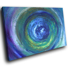 AB1561A Framed Canvas Print Colourful Modern Abstract Wall Art - blue paint effect swirl-Canvas Print-WhatsOnYourWall