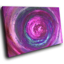 AB1562A Framed Canvas Print Colourful Modern Abstract Wall Art - purple paint effect swirl-Canvas Print-WhatsOnYourWall