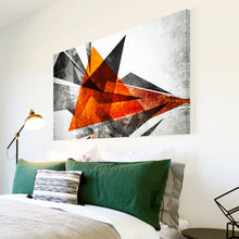 AB1565A Framed Canvas Print Colourful Modern Abstract Wall Art - orange geometric-Canvas Print-WhatsOnYourWall