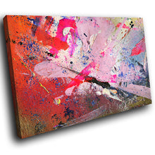 AB1569A Framed Canvas Print Colourful Modern Abstract Wall Art - urban red paint effect-Canvas Print-WhatsOnYourWall