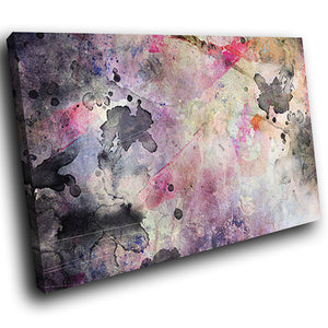 AB1570A Framed Canvas Print Colourful Modern Abstract Wall Art - urban black pink paint-Canvas Print-WhatsOnYourWall