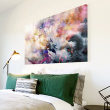 AB1571A Framed Canvas Print Colourful Modern Abstract Wall Art - urban black pink grey paint-Canvas Print-WhatsOnYourWall