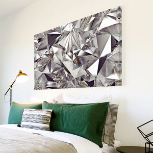 AB1572A Framed Canvas Print Colourful Modern Abstract Wall Art - Diamond Pattern-Canvas Print-WhatsOnYourWall