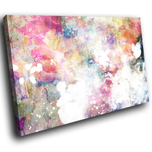 AB1574A Framed Canvas Print Colourful Modern Abstract Wall Art - pink graffiti grunge urban-Canvas Print-WhatsOnYourWall