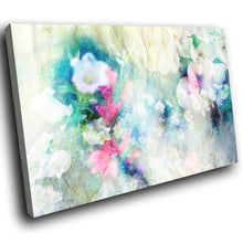 AB1579A Framed Canvas Print Colourful Modern Abstract Wall Art - blue pink cloudy paint-Canvas Print-WhatsOnYourWall