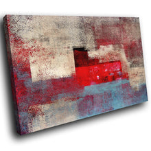 AB1585A Framed Canvas Print Colourful Modern Abstract Wall Art - red blue aged paper-Canvas Print-WhatsOnYourWall