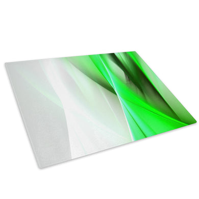 Green White Spiral Glass Chopping Board Kitchen Worktop Saver Protector - AB158-Abstract Chopping Board-WhatsOnYourWall
