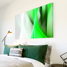 AB158 Framed Canvas Print Colourful Modern Abstract Wall Art - Green White Spiral-Canvas Print-WhatsOnYourWall