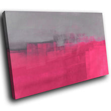 AB1595A Framed Canvas Print Colourful Modern Abstract Wall Art - pink paint effect-Canvas Print-WhatsOnYourWall