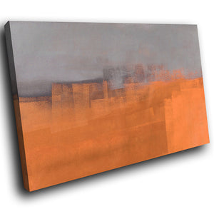 AB1596A Framed Canvas Print Colourful Modern Abstract Wall Art - orange paint effect-Canvas Print-WhatsOnYourWall