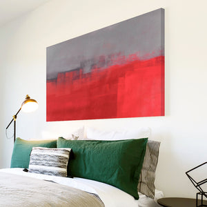 AB1597A Framed Canvas Print Colourful Modern Abstract Wall Art - red paint effect-Canvas Print-WhatsOnYourWall