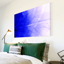 AB159 Framed Canvas Print Colourful Modern Abstract Wall Art - Blue Purple Swirl-Canvas Print-WhatsOnYourWall