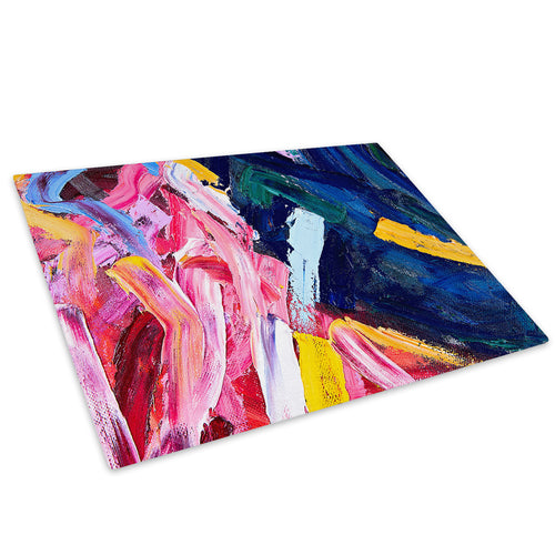 Colourful Retro Cool Glass Chopping Board Kitchen Worktop Saver Protector - AB1605-Abstract Chopping Board-WhatsOnYourWall