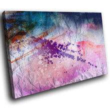 AB1606A Framed Canvas Print Colourful Modern Abstract Wall Art - pink purple splat-Canvas Print-WhatsOnYourWall