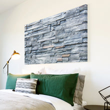 AB1630A Framed Canvas Print Colourful Modern Abstract Wall Art - grey stone wall effect-Canvas Print-WhatsOnYourWall